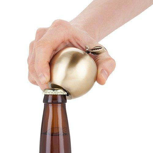 Twine School Yard Brass Apple Bottle Opener, Gold