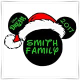 Disney Inspired Christmas Magnet. Personalized Disney Cruise Magnet. Mickey Minnie Magnet.