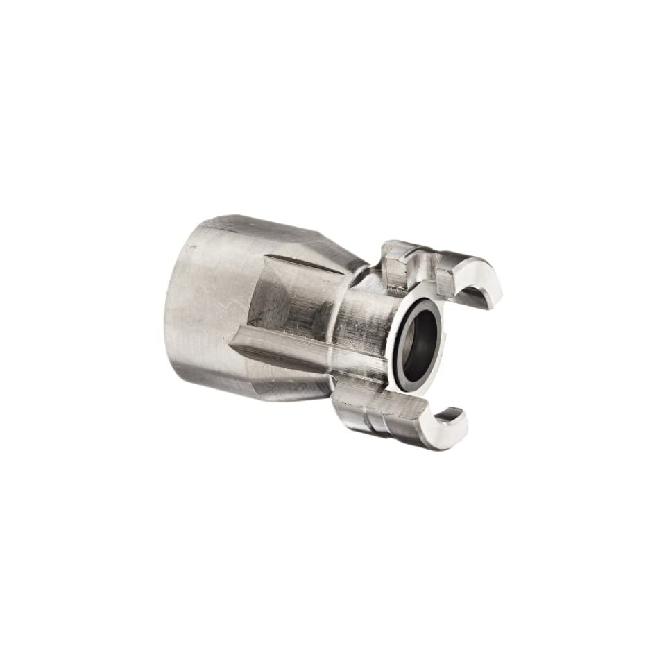 Dixon Valve PF12SS Stainless Steel 303 Dual Lock Air Fitting, Quick Acting Coupler, 1/2 Coupling x 3/4 NPT Female Thread