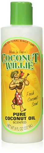 Hawaiian Coconut Willie 100% Pure Coconut Oil - Unscented 8 fl oz (UNSCENTED)