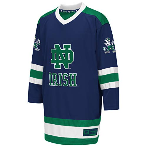 Colosseum NCAA Youth Boys Athletic Machine Hockey Sweater Jersey-Notre Dame Fighting Irish-Youth Large