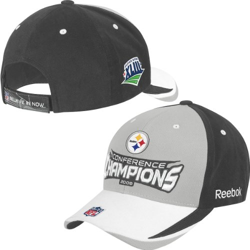 Reebok Pittsburgh Steelers 2008 AFC Conference Champions Locker Room Hat Adjustable