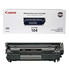 Canon Original 104 Toner Cartridge - BlackDesigned for use with the imageCLASS MF4150 and Faxphone L120, the Canon 104 is a black toner replacement cartridge that combines all the necessary parts in one compact piece. This single-cartridge sy...