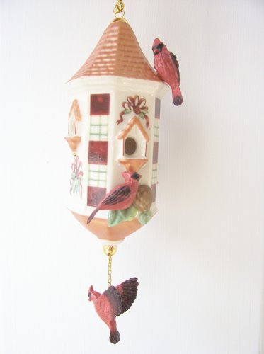 Lenox Winter Greetings Birdhouse Christmas Tree Ornament