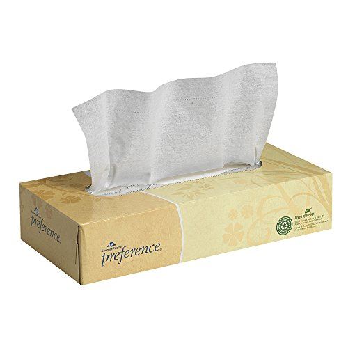 Pacific Northern Flat Car - Georgia-Pacific Preference 48100 White 2-Ply Facial Tissue, Flat Box, 8.85