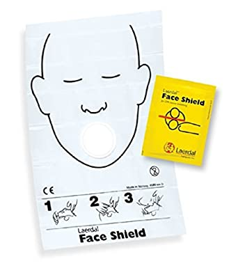 f1d20197201 Amazon.com: Laerdal Medical Corporation Face Shield CPR Barrier, 50 Count:  Industrial & Scientific