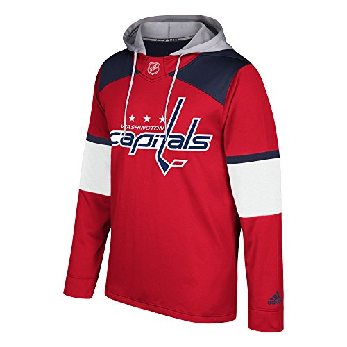 NHL Washington Capitals Mens Silver Jersey Hoodsilver Jersey Hood, Red, 4X-Large