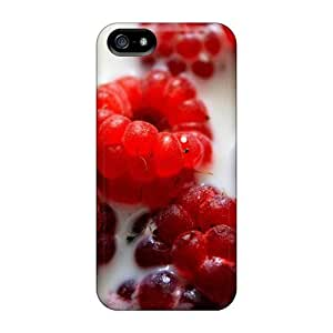 Food Fruits And Berryes Raspberry In Milk Case Compatible With For HTC One M7 Phone Case Cover Hot Protection Case