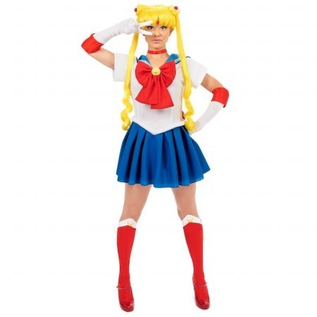 Sailor Moon Costume Man (Sailor Moon Teen Costume (As Shown;One Size))