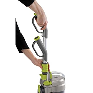 Hoover WindTunnel Air Bagless Upright Corded Lightweight Vacuum Cleaner - putting hose back in