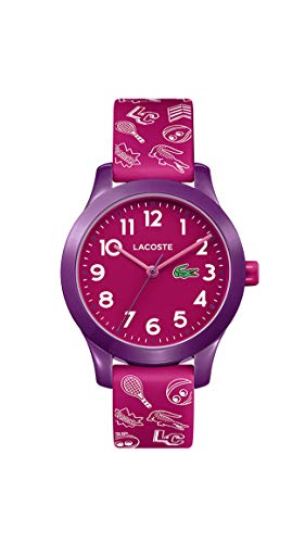 Lacoste Kids' TR90 Quartz Watch with Rubber Strap, Pink, 14 (Model: 2030012) (Watches Lacoste)