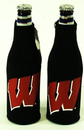 セットの2 Wisconsin Badgers Bottle Suit Koozies B002ZKLUL6