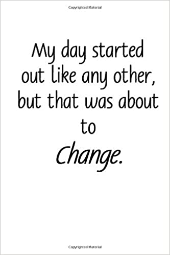 amazon day change story starter journal simple lined page journal