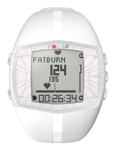Polar FT40 Women's Heart Rate Monitor Watch (White) (Polar Ft 40 Battery)
