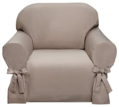 Ivory Lucerne Ribbed Slipcover, Sofa Love Seat Chair