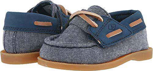 Chambray Crib - SPERRY Boys' AO Crib Jr Shoe, Chambray, 3 Medium Infant