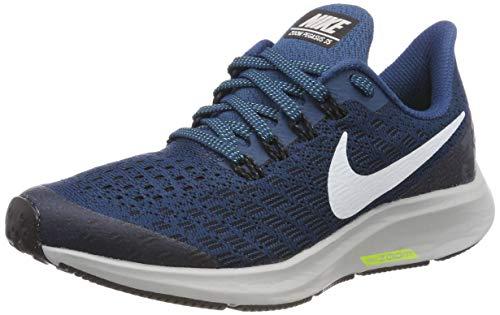 Nike Boy's Air Zoom Pegasus 35 Running Shoe Blue Force/White/Black/Wolf Grey Size 5 M -