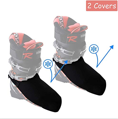 Byhoo Ski Boot Covers Warm Your Feet, 2 Snowproof Boot Gloves Universal Ski Boots Cover for Skiing Lovers Family Skiing, Toe Warmers Boot Covers