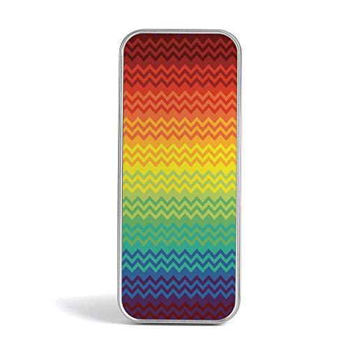 (Tin Box,Fiesta,Perfect Holder for Pencils and Pens,Round Rainbow Colored Confetti Pattern Celebratory Festive Illustration)
