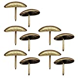 Whale GoGo Thickened Oval Shape Iron Upholstery Tacks Decorative Door Sofa Furniture Nails Pins Pack of 30