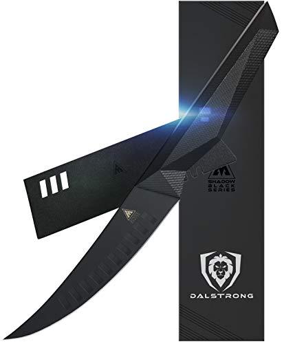 Dalstrong Fillet Knife - 6' - Shadow Black Series - Black Titanium Nitride Coated German HC Steel - Sheath
