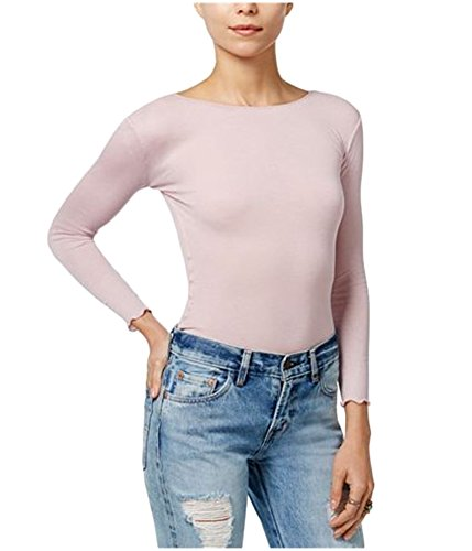Free Pullover (Free People Womens Modal Blend Ribbed Pullover Top Pink M)