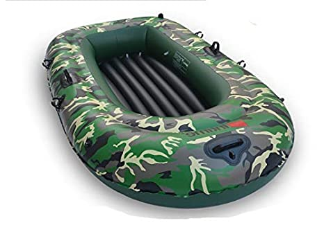 SHIJING Barco Inflable Espesar 0.35 mm PVC Camuflaje Barco ...
