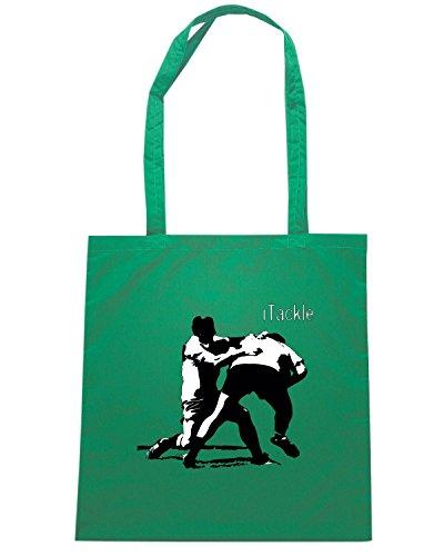 T-Shirtshock - Bolsa para la compra TRUG0178 rugby itackle logo Verde