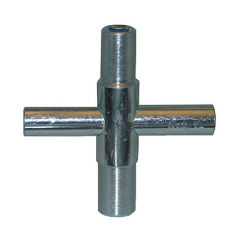 LASCO 01-5223 Metal Outside Faucet Hose Bibb Key, Cross Shaped, Fits Square Broach 1/4, 9/32, 5/16 and 11/32-Inch -