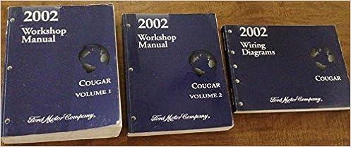 2002 Mercury Cougar Service Shop Repair Manual Set Oem 2 Volume Service Manual Set And The Wiring Diagrams Mercury Amazon Com Books