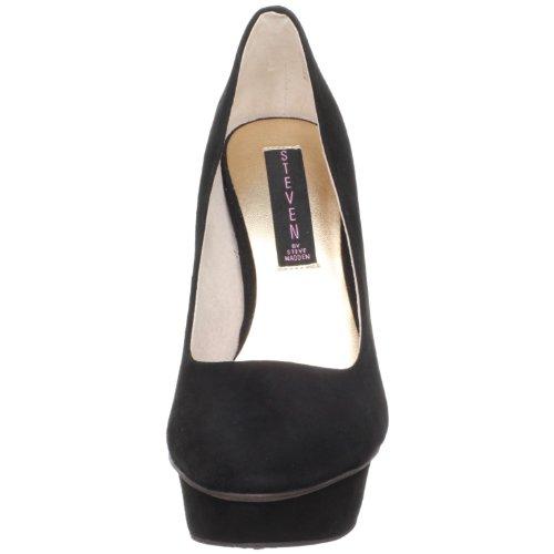 Steve Madden - Zapatos de vestir para mujer Black Suede