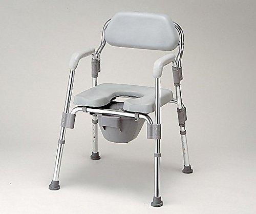 0-6622-11トイレ椅子(折りたたみ式)520×535×700~800mm B07BDNSPY9