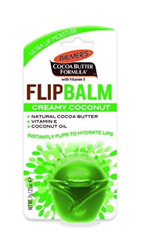 Palmer's Cocoa Butter Formula Flip Balm, Creamy Coconut, Moisturizing Lip Balm, 0.25 oz. (Pack of 6)