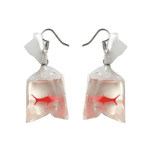 - Creative Gift Earrings,Elevin(TM) Women Funny Goldfish Water Bag Shape Dangle Hook Earrings Female Charm Jewelry