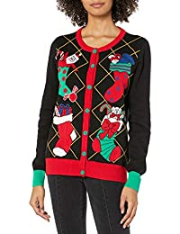 Ugly Christmas Sweater Company Womens Xmas Stockings Cardigan Cardigan Sweater