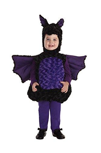 [Underwraps Baby's Bat Belly-Babies, Black/Purple, Large] (Toddler Boy Big Bird Costume)