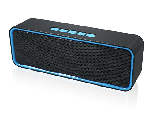 HUSAN Wireless Bluetooth Speaker With AUX/USB/TF card slot,Outdoor Portable...