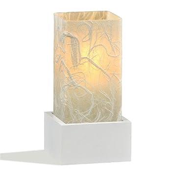 Lampe Kaze Eks Weiss Handgefertigtes Japanpapier Und Glas 26 5 X 12 X