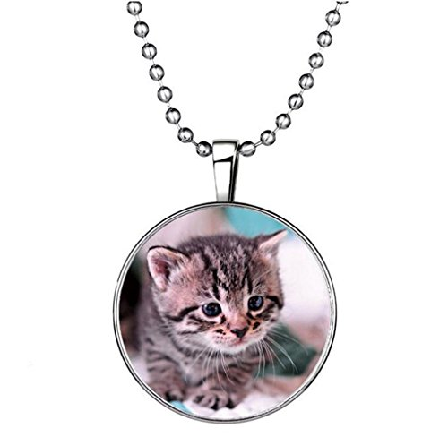 winters-secret-circle-shape-luminous-animal-pendant-personality-cat-alloy-noctilucent-necklace