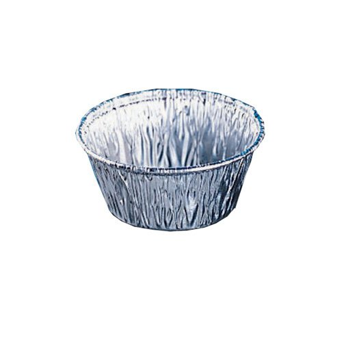 Fisher Scientific 08-732-109 Fisherbrand Disposable Dish with Fluted Sides, Aluminum, 500 mL Capacity, 180 mm Top Diameter (Pack of 50)