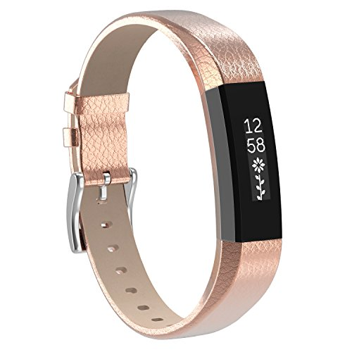 For Fitbit Alta HR Band Leather, Henoda for Fitbit Alta Strap Style Women Small