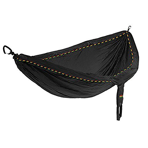 Eagles Nest Outfitters ENO DoubleNest Hammock, Portable Hammock for Two, Rasta Limited Edition