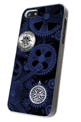 iphone 5/5S Motif engins mécaniques en Machine Design homme à Coque en plastique et métal avec cadre transparent