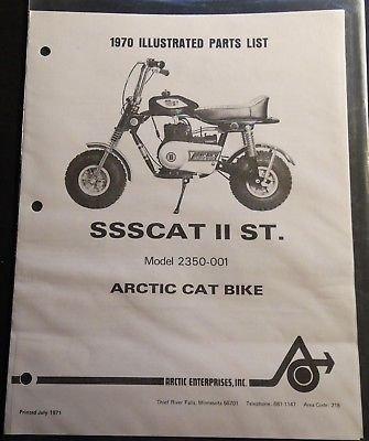 (1970 ARCTIC CAT SSSCAT II ST. MINI-BIKE PARTS MANUAL COPY P/N 2385-008)