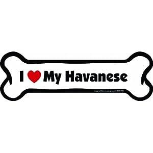 Imagine This Bone Car Magnet, I Love My Havanese, 2-Inch by 7-Inch 2