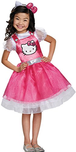 [Disguise 93621L Hello Kitty Pink Deluxe Costume, Small (4-6x)] (Hello Kitty Child Costumes)