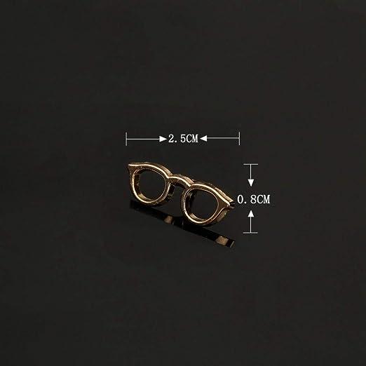JTXZD Broche Fashion Enameal Pin Gafas de Sol Hombre Traje Broche ...