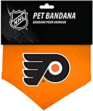 All Star Dogs Philadelphia Flyers Dog Bandana, Large, Team Colors