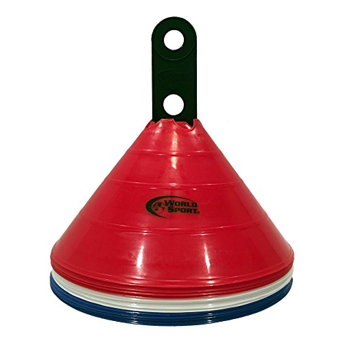 World Sport Large Multi Color (Red White Blue) Disc Cones by World Sport (Image #1)