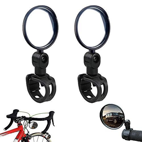 Fietsspiegels Een paar universele fietsspiegels Stuurspiegels 360 ° verstelbaar, glazen lens stangkop…